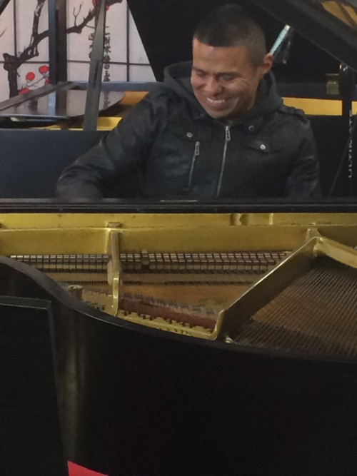 Benito Gonzalez Visits Sonny's Piano Warehouse Long Island NY to pick out a Mason & Hamlin Piano January 2014