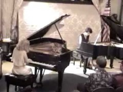 R.I.P In memory Connie 1941-2016 Connie Crothers and Valentina Nazarenko Piano Duo at Steinway Hall, July 22, 2005