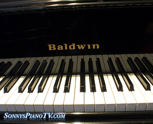 (SOLD) Baldwin Baby Grand Piano Ebony 1990  Model M 5'2