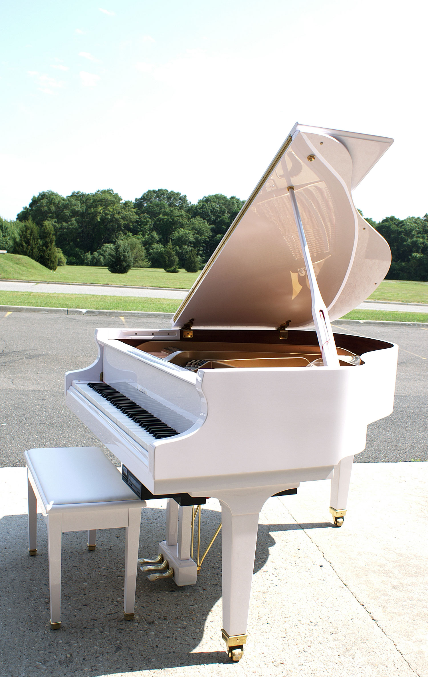(SOLD) We have more! Call for info! Player Piano Baby Grand White Gloss Baldwin Hamilton 2008