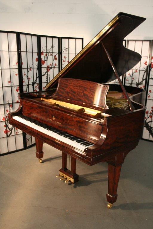 (SOLD) Steinway Grand Piano Model B 6'10.5' African Mahogany Totally Rebuilt  January 2012