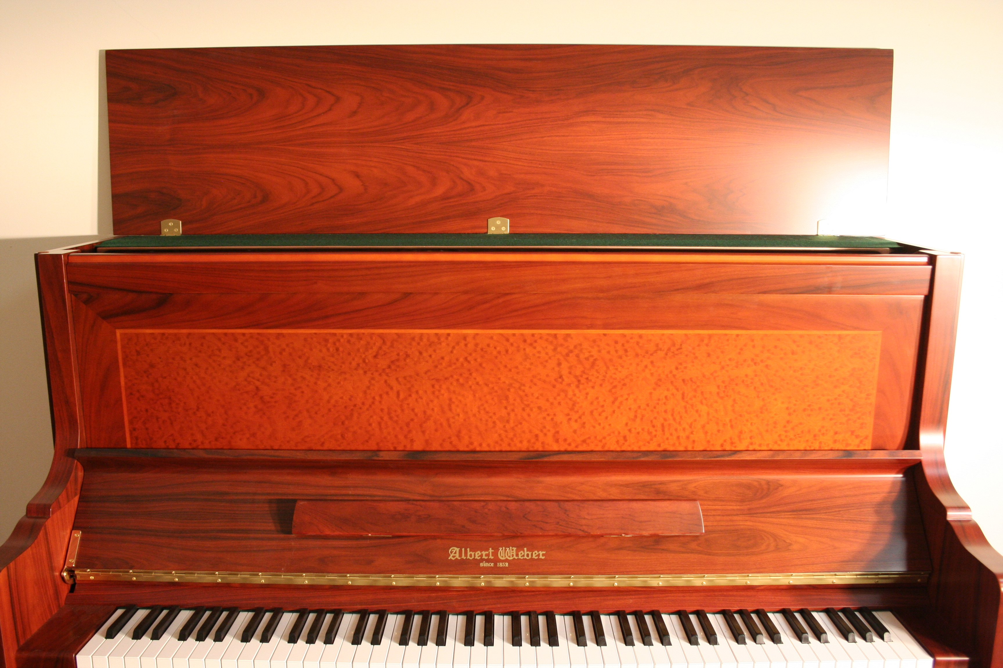 First Place Prize  For Sonny's 'Win A Free Piano' Contest Starting June 7th. New Albert Weber Upright 51 inches, Rosewood,   $8500.