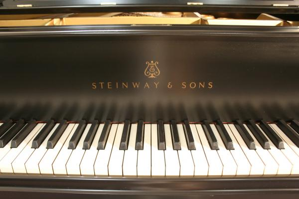 (SOLD) Steinway Grand Piano Model L Ebony, 1934, just refinished & refurbished.