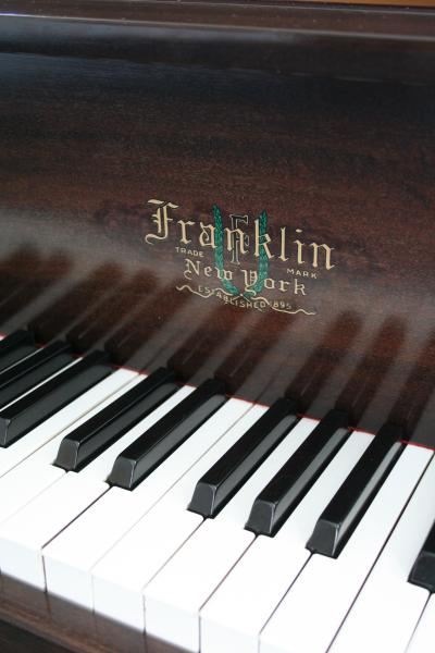 (SOLD) Franklin Baby Grand Piano Refin./Reblt. Mahogany 5'1'