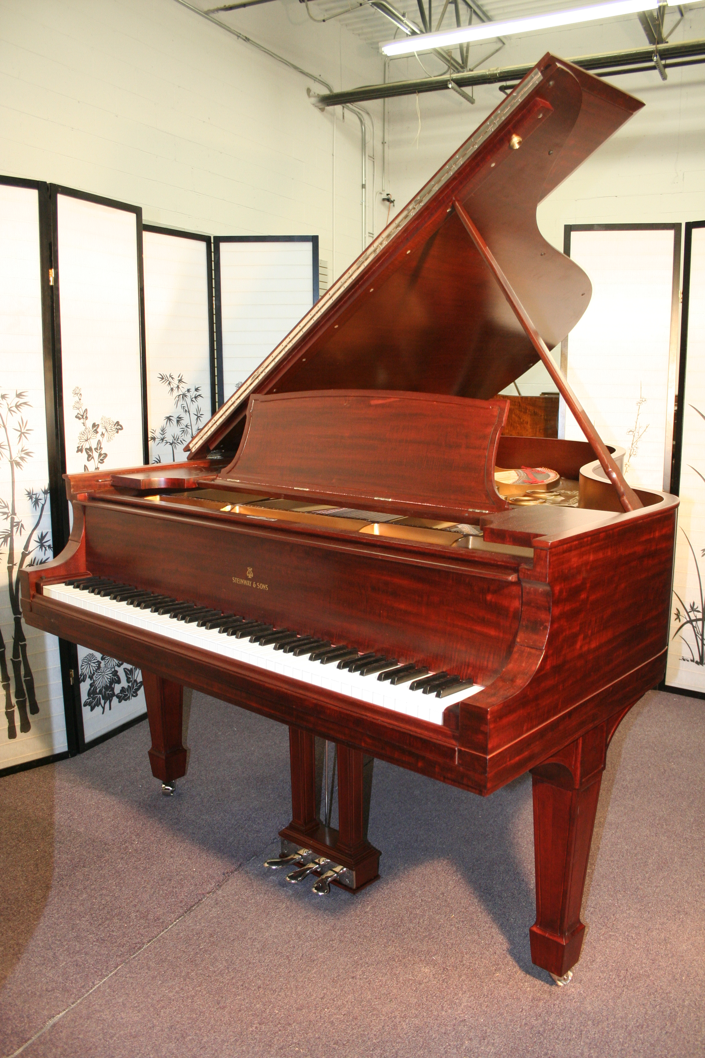 (SOLD)Steinway Grand Piano Model A3 6' 4 1/2' The Stretch Rebuilt/Refinished Mahogany