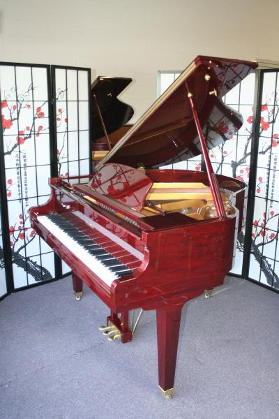 (SOLD) Wurlitzer Baby Grand Piano Red Mahogany 4'8 1998