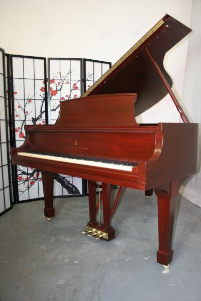 (SOLD)Steinway Grand Piano Model L 1970 Just Rebuilt (Renner Hammers) & Refinished/ Brilliant Red!