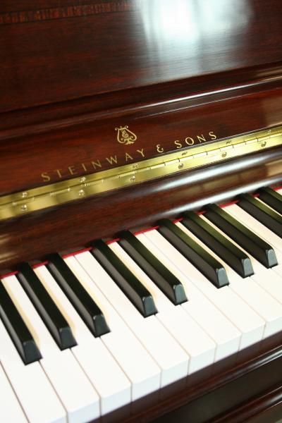 (SOLD Congratulations Victoria-Denver, CO.) Steinway Upright Piano 2007 Model K52 'Crown Jewel' Series (VIDEO) Mahogany