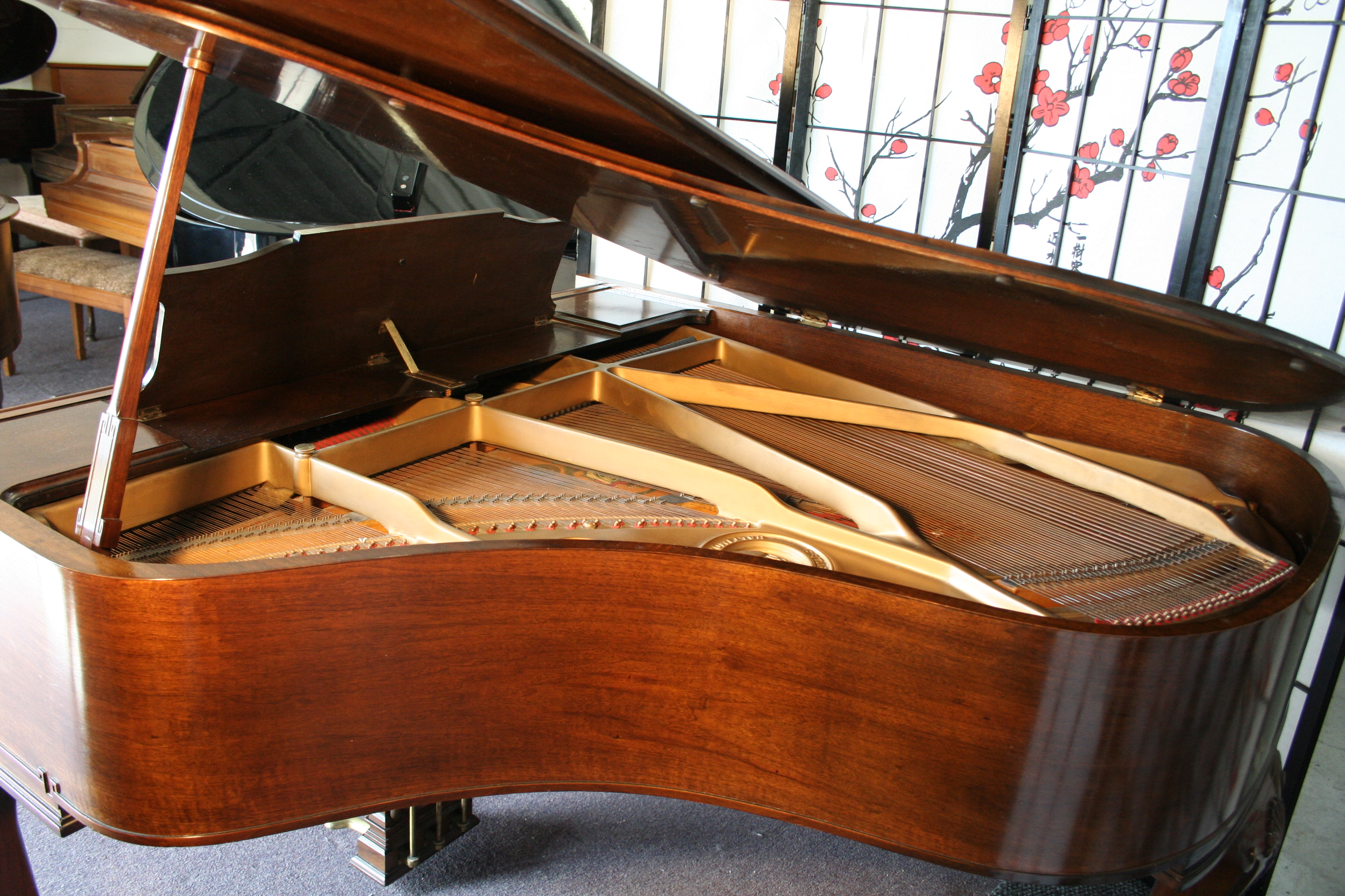 SOLD) Art Case Knabe Grand Piano 5'1' Refurbished/French Polished