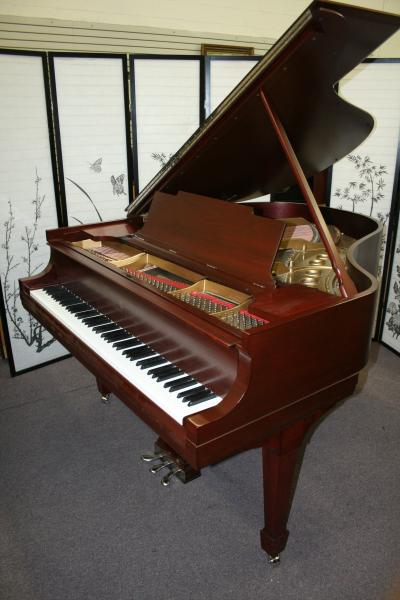 (SOLD)Steinway Grand Piano Model M Just Refinished/Rebuilt August 2012 Red Mahogany