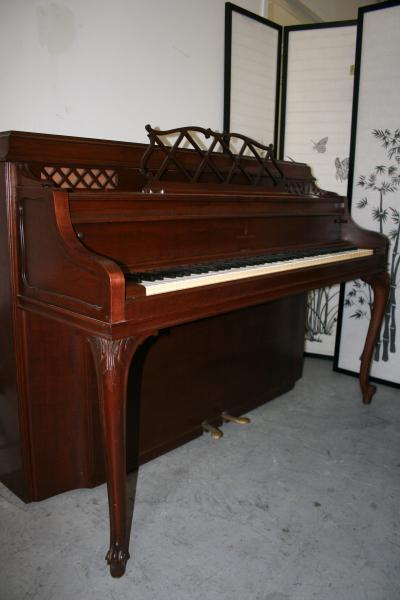(SOLD)Art Case Steinway King Louis XV Style Upright Piano 1949