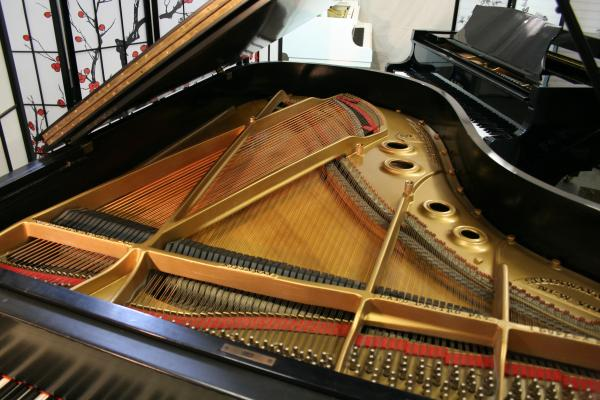 (SOLD) Steinway Grand Piano Model A3  6' 4.5 '  'The Stretch'  (VIDEO) Reblt./Refin. Ebony.(Guest Pianist Scott Ballin)