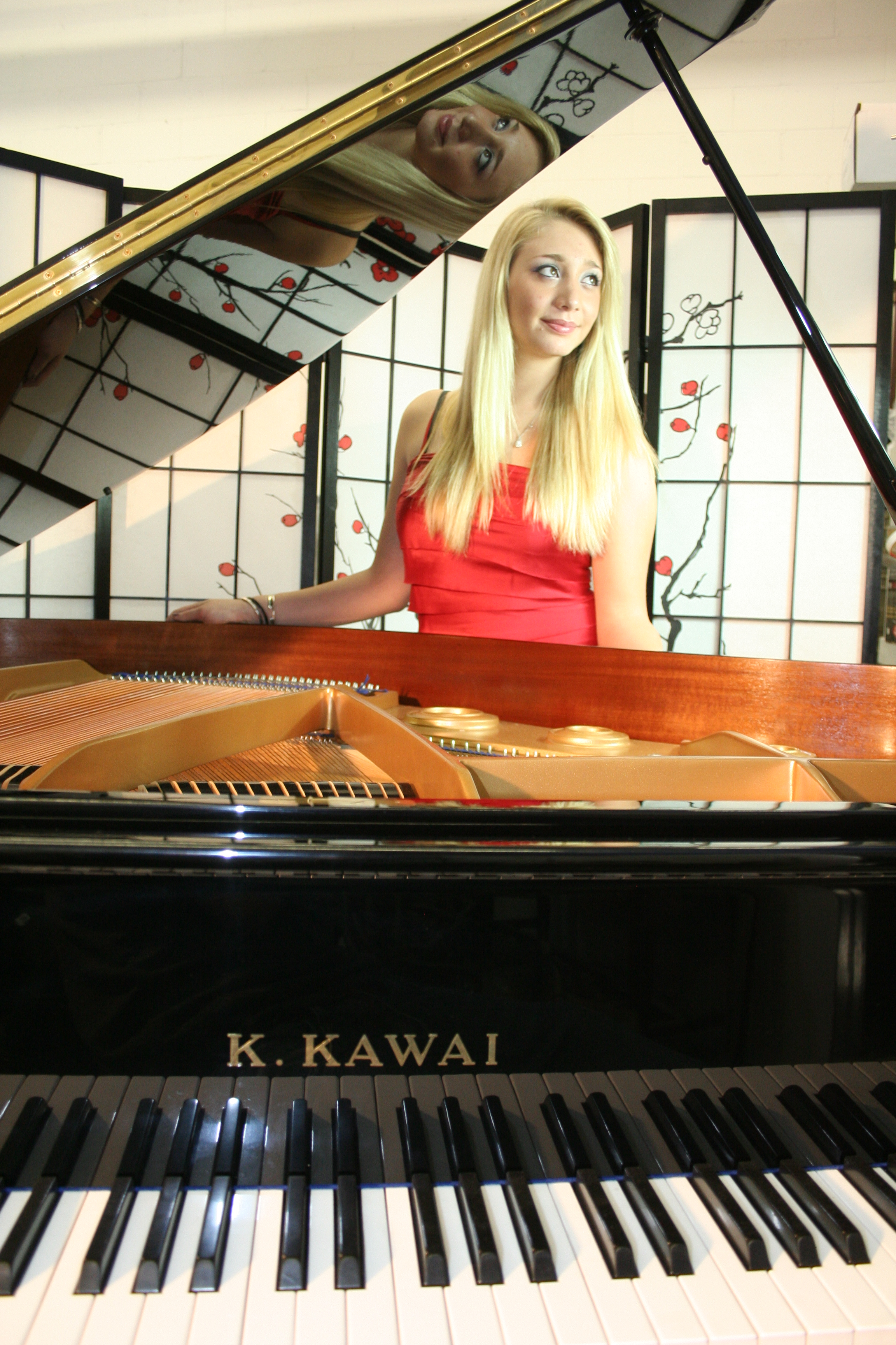 (SOLD) Ebony Gloss Kawai KG1  Baby Grand Player Piano (PianoDisc CD) (VIDEO)  5'1' 1984