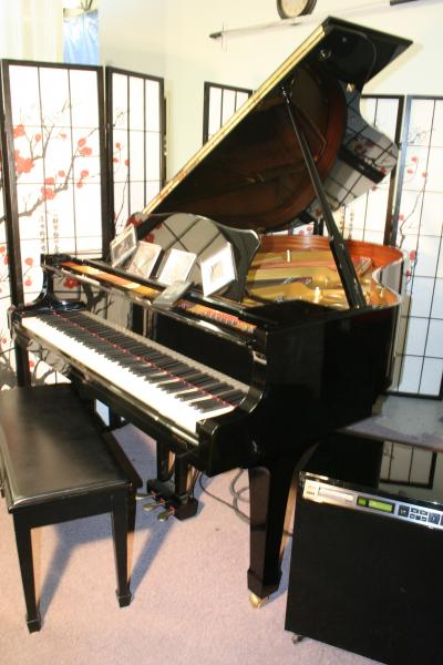 (SOLD) Yamaha C3 Grand Piano 6' 1991 w/Disklavier Ebony Gloss