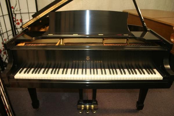 (SOLD) Steinway Baby Grand Piano Model S 1936 5'1 w/New Hand Rubbed Satin Ebony Finish