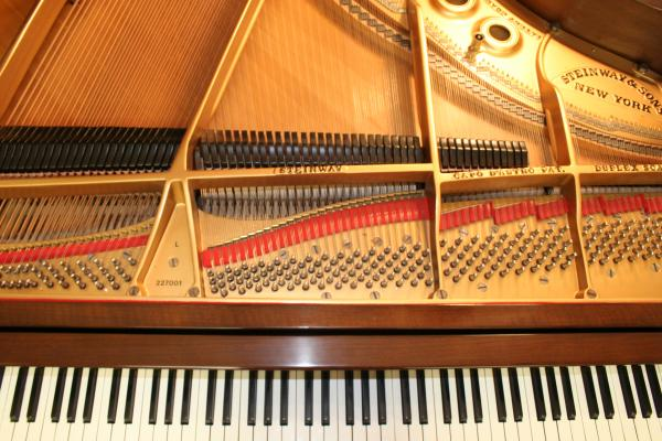 (SOLD)Steinway Grand Piano Model L 5'10.5' Mahogany 1924 (Sonny/VIDEO) Completely Reblt/Refin.