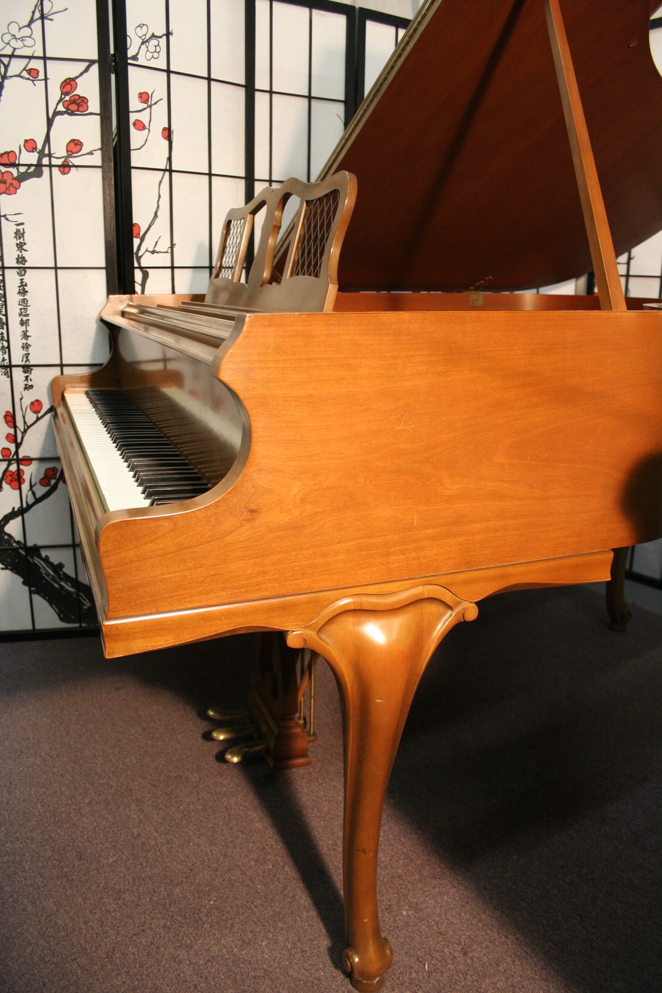 (SOLD CONGRATULATIONS DARLA )Art Case Knabe Baby Grand Piano, 1961, Pristine, Showroom Condition, Rich, sublime tone.