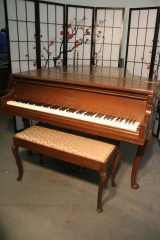 (SOLD)Player Piano Art Case Chickering Walnut Pristine 1980's