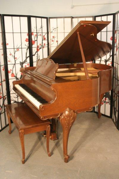 (SOLD)Art Case Kranich & Bach Baby Grand Piano Walnut 1970's
