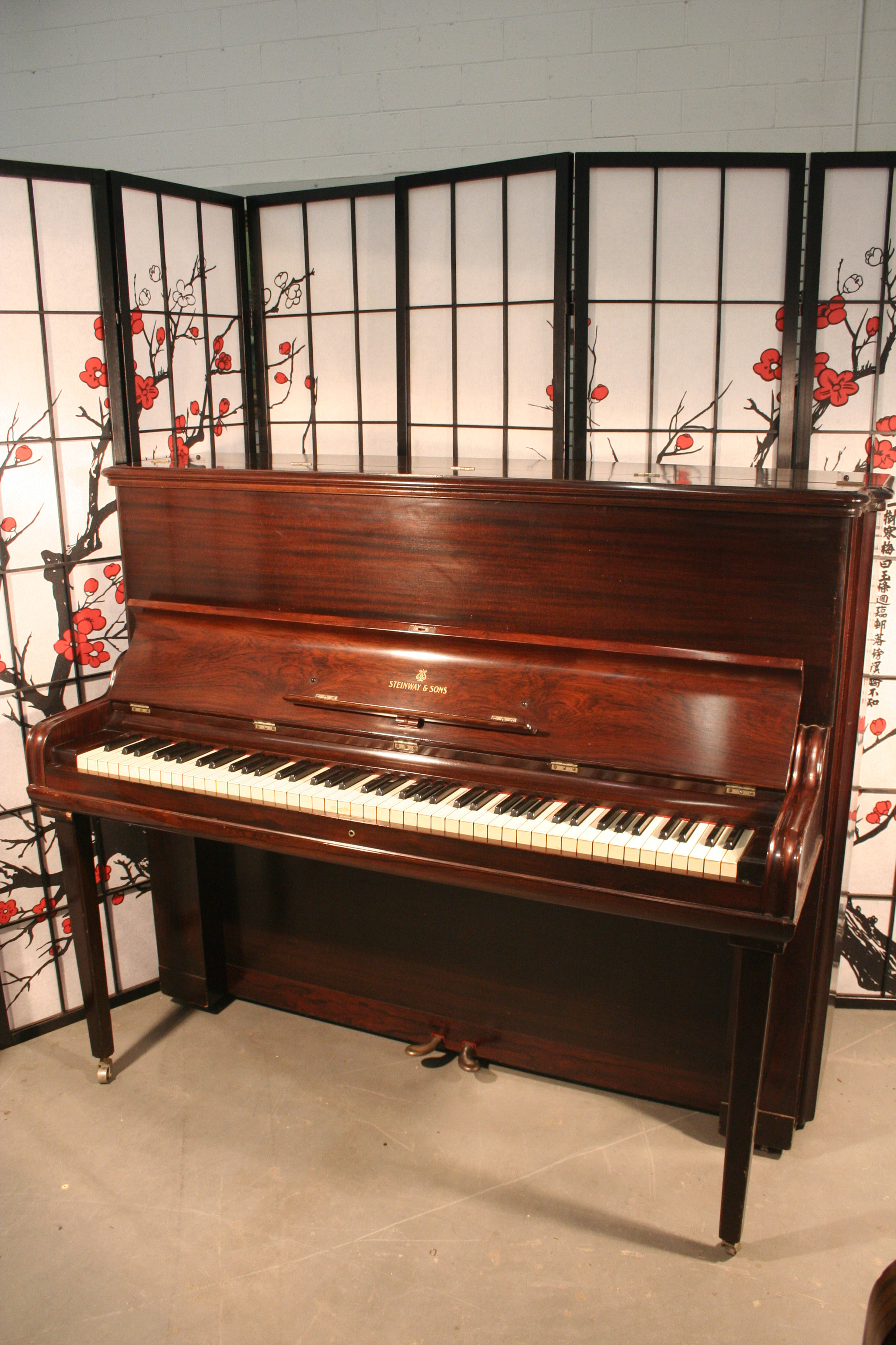 Win A Free Piano Contest 2nd Prize Steinway Studio Upright Piano,Rosewood Rebuilt/Refinished!