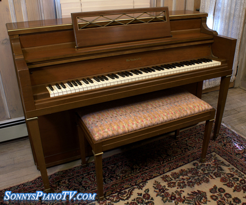 (SOLD)Knabe Console Piano Walnut Excellent $1500