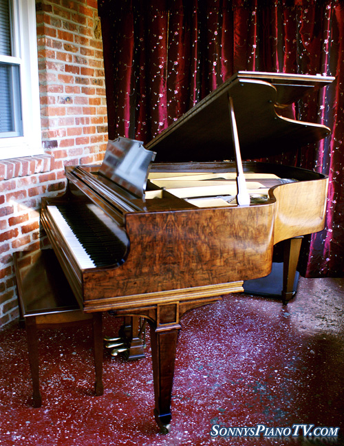 (SOLD Congratulations Kevin & Wife) Knabe Extraordianirre Baby Grand, Burled Walnut Sublime Tone!