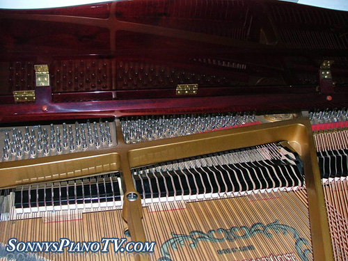 (Sold-Congratulations Diane & Robert) Player Piano Baby Grand Kohler & Campbell Cherry Mahogany 4'8