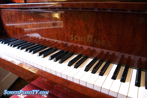 (SOLD Congratulations Barton Family) Schimmel Grand Piano SP 182 Bubinga Red 1998