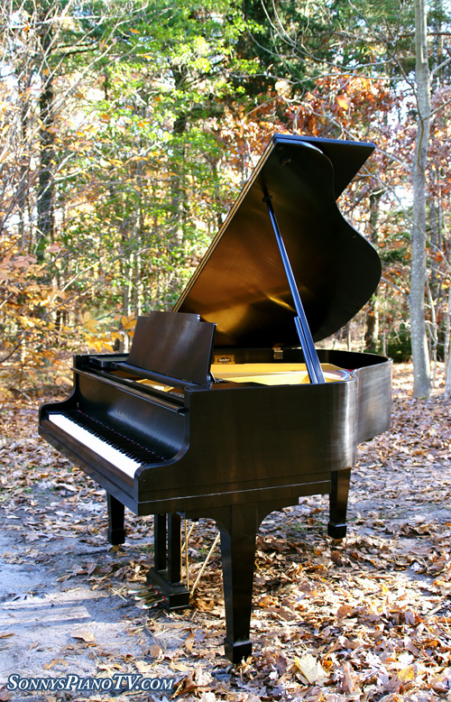 (SOLD)Kawai Baby Grand Piano Ebony Rebuilt  & Refinished in 1995 Mint Pristine