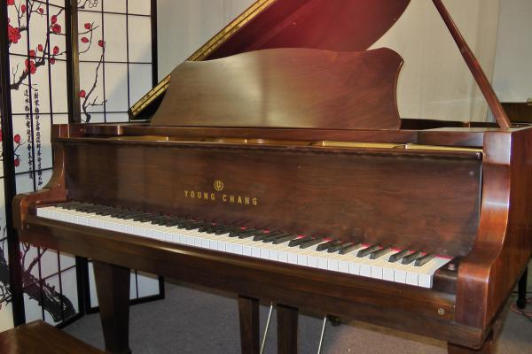 (SOLD) Young Chang Baby Grand Piano (VIDEO) 5' 1991 Pretty Semi-Gloss Walnut