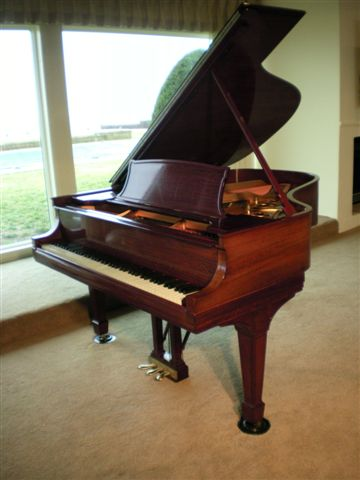 (SOLD) Steinway Grand Piano Model L Rebuilt & Refinished (Listen To mp3)