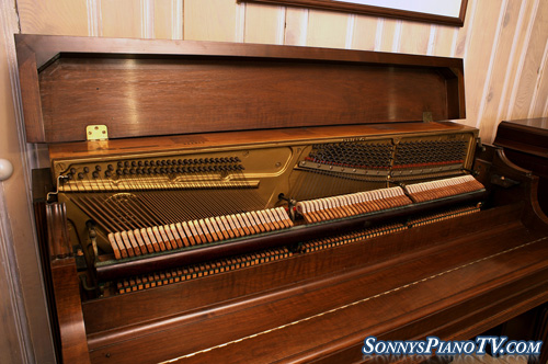 (SOLD)Steinway Piano Console Art Case Walnut 42