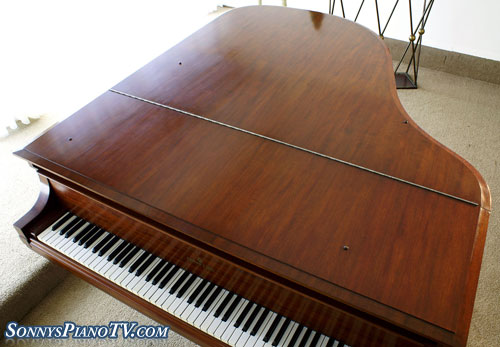 (SOLD Congratulations Borgia Family)Steinway Grand Piano Model L, 1927 Refin/Refurb. Beautiful Mahogany (Listen To mp3)
