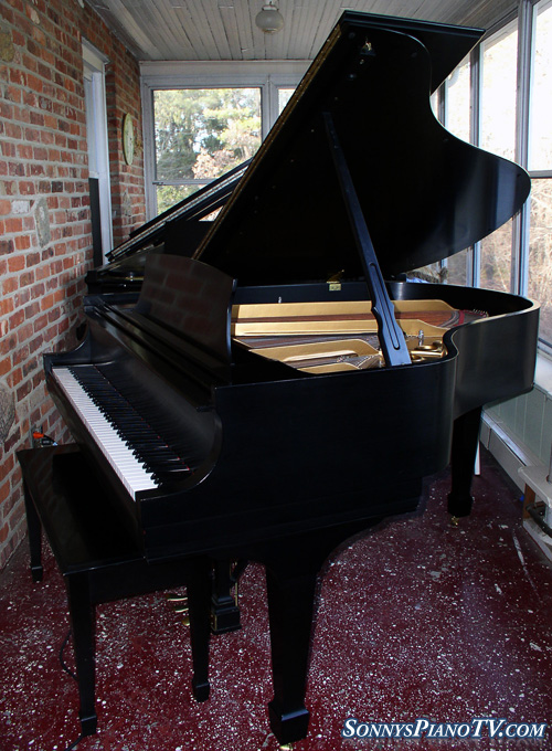 (SOLD) Going To New Orleans-Go Saints! Steinway Grand Piano Model M Ebony 1988 Pristine