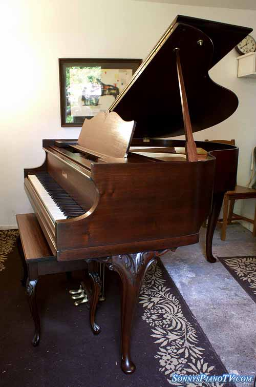 (SOLD) Art Case Baby Grand Winter Piano, 4'8