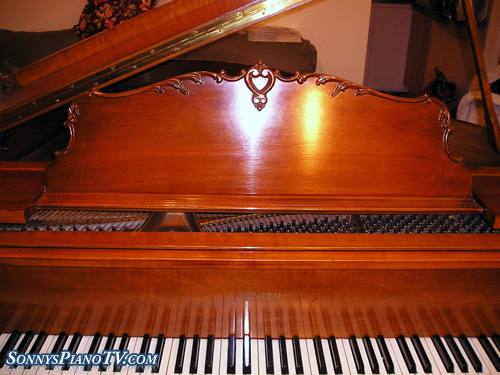 (SOLD)Gorgeous Art Case Winter Baby Grand Piano French Legs