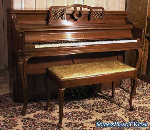 (SOLD)Art Case Knabe Console Piano French Legs