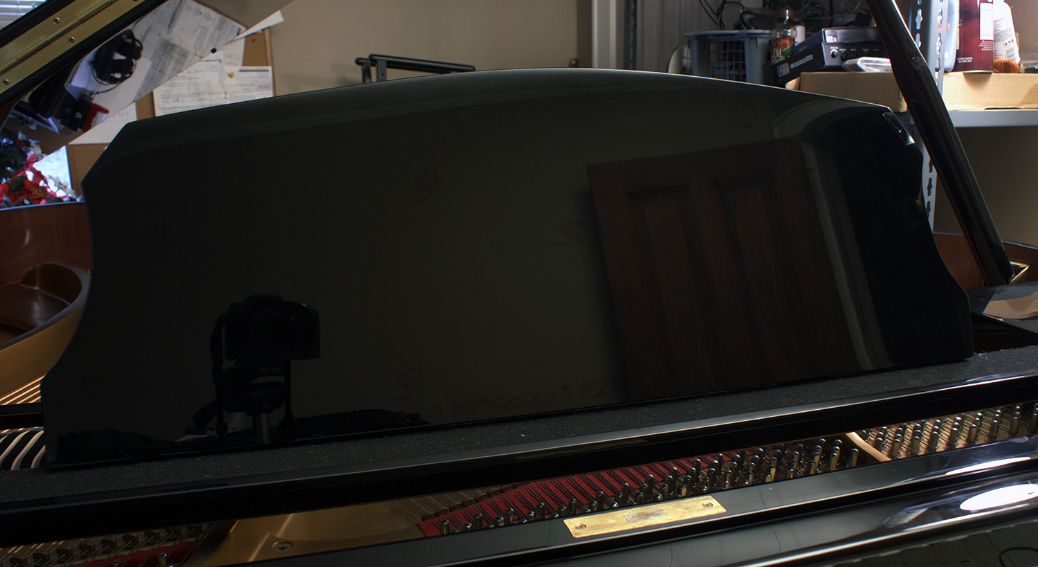(SOLD) Ebony Gloss Baby Grand Sherman & Son 5'4