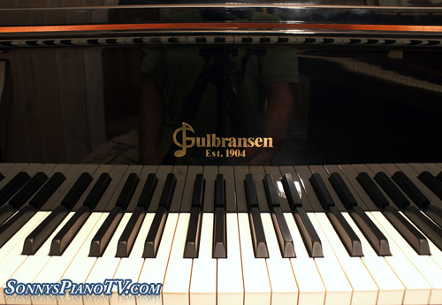 (SOLD)Player Piano Ebony Baby Grand Gulbransen QRS Pianomation CD Like New!