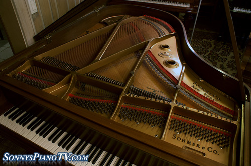 (Sold-Congratulations Folger Family) Sohmer Grand Piano 1972, Walnut 5'7