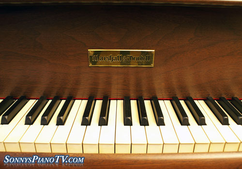 (SOLD)Stunningly Beautiful Walnut Marshall & Wendell Baby Grand Gorgeous Art Case Just  Rebuilt & Refinished