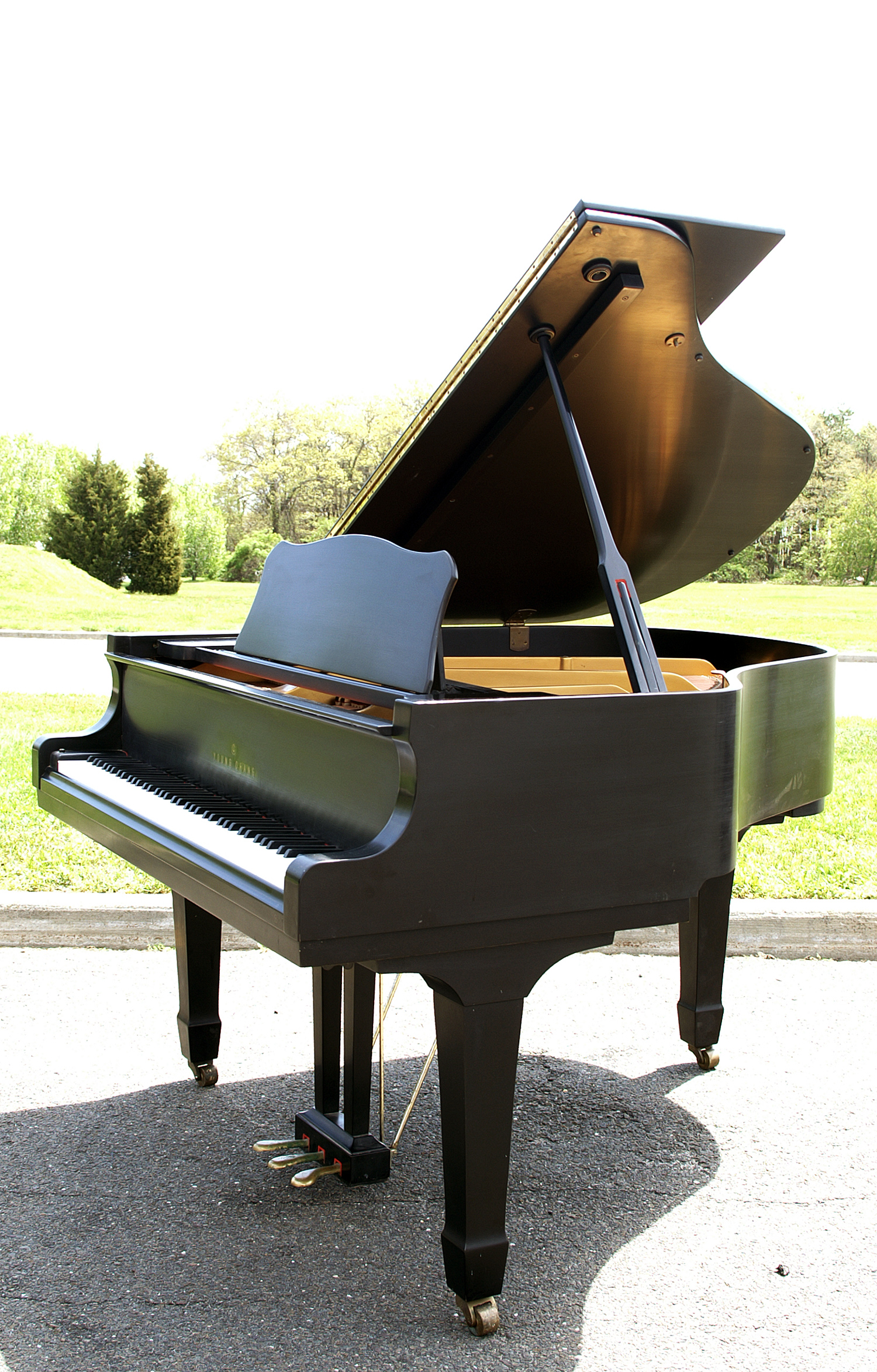 (SOLD) Hand Rubbed Satin Ebony Gloss Young Chang Baby Grand 5'3