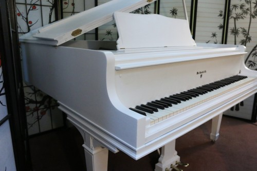 (SOLD) White Knabe Baby Grand 5'1