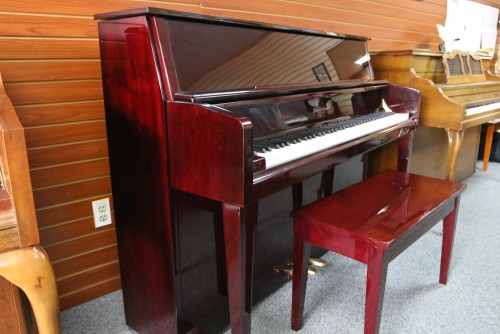 Kohler & Campbell High Gloss Red Mahogany Upright $1300. Blowout Sale!