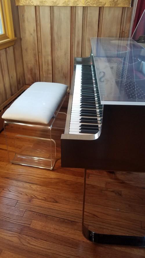Transparent Plexiglass Custom Sterling Baby Grand Art Case Piano $9500.