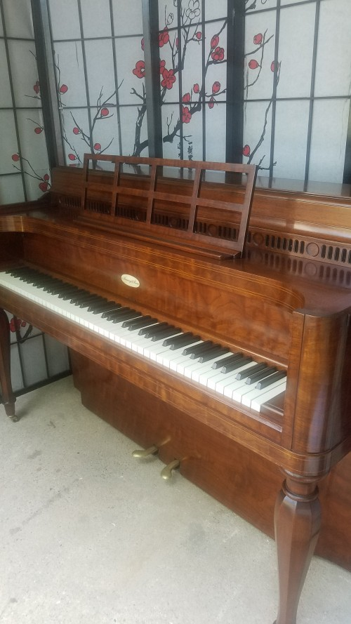 (SOLD) Art Case Steinway Upright Console Piano Beautiful Walnut