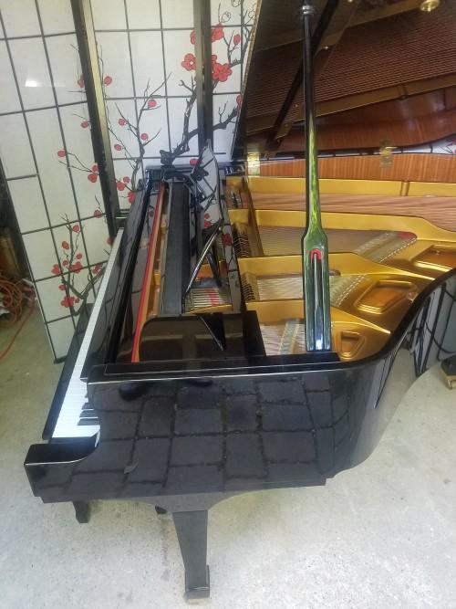 (CONGRATULATIONS TERRY & WIFE)  Weber Grand Piano Ebony Gloss 5'7