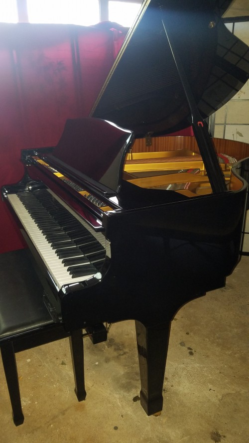 Ebony Gloss Story & Clark (Ibach German design) Pianomation CD Player Piano Baby Grand Excellent Warranty $5900.