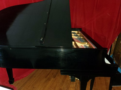 (SOLD) Steinway Grand Piano Ebony Model M 1954 Rebuilt/Refinished