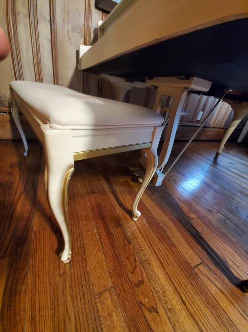 Kimball Art Case  Ivory Baby Grand w/Gold Trim and Bosendorfer Design Aspects 5' custom Hand Painted  $3500.